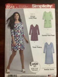 New Factory Folded SIMPLICITY Misses Knit Dress Stretch Pattern 8548  Size 10-22