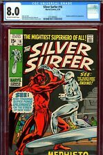 Silver Surfer #16 CGC GRADED 8.0 - Mephisto c/s - 4th appearance - Buscema cover