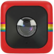 Polaroid Compact Cube HD Action Video Camera DVR Sports Helmet Camcorder - Red