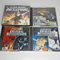Star Wars Battlefront Galactic Battlegrounds Clone X-Wing Alliance 4 PC Game Lot