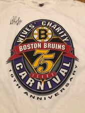 Ray Bourque Boston Bruins 75 Years 1998-99 Wives Carnival Signed XL T-shirt New