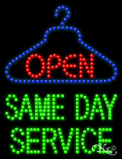 """New """"Same Day Service Open"""" 26x20 Solid/Animated Led Sign W/Custom Options 21776"""
