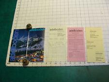 Vintage High Grade SKIING Brochure: SWITZERLAND-1973--adelboden & price sheets