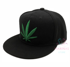 ✅UK✅ NEW Weed /Ganja leaf cap /Snapback/Flat cap/Fashion Hats/Hiphop/Grime✅CAP17