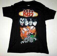 KISS Band 2014 Las Vegas Gambling Flaming Dice Poker Chips T-Shirt UNWORN Large