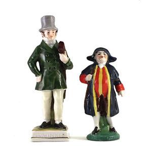 Lot: Vintage German Porcelain Charles Dickens Mr. Winkle & Mr. Bumble Figurines