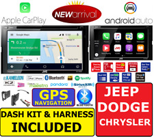 2007 & UP CHRYSLER JEEP DODGE JVC NAVIGATION APPLE CARPLAY ANDROID AUTO STEREO