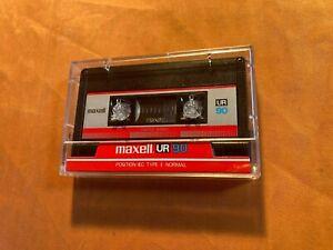 1 x Maxell UR 90 Cassette,IEC I/Normal Position,sehr guter Zustand,1986