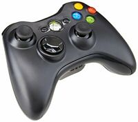 Microsoft Xbox 360 Wireless Controller - Glossy Black - with Battery Cover READ