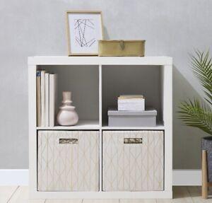 Better Homes & Gardens 4-Cube Storage Organizer, White New