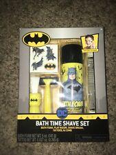 Vintage Batman Dc Kids Bath Time Shave Set Bath Foam Razor Shave Brush Tattoos