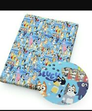 Blue dog Fabric Bingo 1m x 1.45m Poly Cotton (not stretchy) New