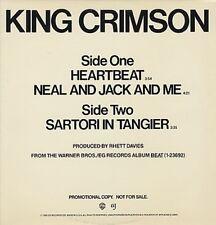 "KING CRIMSON Heartbeat 3 track 1982 Us 12"""