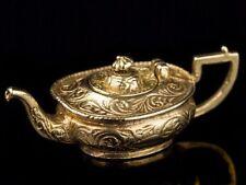 1970 Rose Gold 9 Carat Georgian Teapot Pendant or Charm