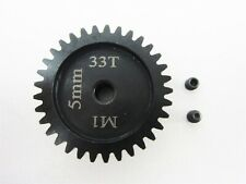 SAGA CUSTOM RC 5mm Bore 33T MOD 1 Hardened Steel Pinion Gear