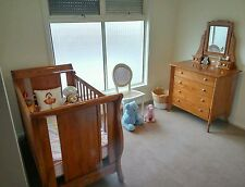 Near new Gro Time Mon Cheri cot and Chevet Drawers with Dulcie Mirror