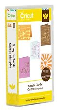 CRICUT *SIMPLE CARDS* PROJECTS CARTRIDGE *NEW SEALED* 48 CARDS - 2 ENVELOPES