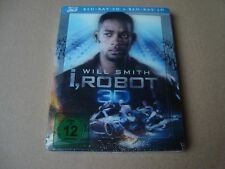 I ROBOT 3D Blu-Ray SteelBook with lenticular magnet cover NEW &SEALED Will Smith