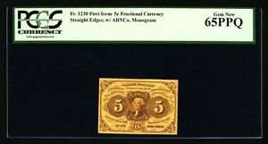 "1862-63  5 CENTS FRACTIONAL CURRENCY FR-1230 CERTIFIED PCGS 65-PPQ ""GEM NEW"""