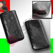 custodia eco PELLE sacchetto per SAMSUNG i9001 GALAXY S PLUS i9100 GALAXY S2
