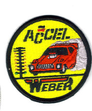 "DRAG RACING PATCH ACCEL WEBER ""NEW""  VINTAGE ACCEL PATCH"