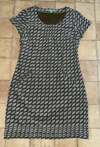 Boden Soft Cord Purple Brown Green Dress, Size 12R, Very Good Condition