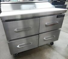 """SW4812D Refrigerated Sandwich Salad Unit 48"""" wide with Drawers 12 Pans"""