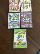 Sims 3 & Expansion Packs(4) (PC) Sims 3 Bundle,  Lot Of 5!