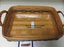 New Longaberger Collector Club Serving Tray Basket + Plastic Protector Set- Rare