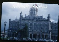 1950s red border Kodachrome photo slide Havana Cuba #7 Cars
