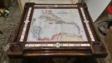 West Indies Caribbean Map Domino Tables by Art