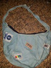 Vintage Shane Blue Denim Hobo Slouch Handbag Jean Grunge Hipster Purse