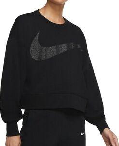 Nike Sparkle Sweatshirt Medium New w Tags Training Top Dri-FIT Get Cropped 12-14