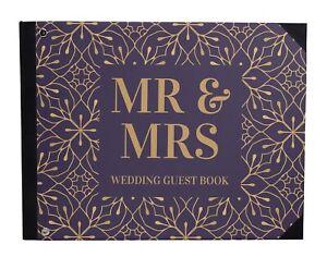 Wedding Guestbook Hardbound Cover Anniversary Wedding Guest Registry-DSPGB-75A