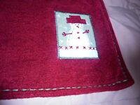 Set (4) Vintage Red Snowman Placemats CHRISTMAS HOLIDAY Table Decor    58