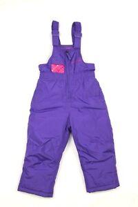 Weatherproof Girls Purple Snow Bibs Ski Insulated Pants Size 3T