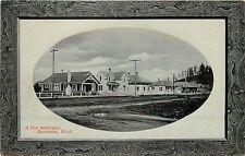 c1910 Postcard Frame Vignette Burlington WA Residence District Skagit County