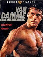NEW DOUBLE FEATURE DVD // JEAN CLAUDE VAN DAMME //  BLOODSPORT + TIMECOP