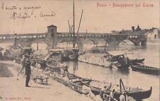 C218) PAVIA, NAVIGAZIONE SUL TICINO. VIAGGIATA NEL 1904.