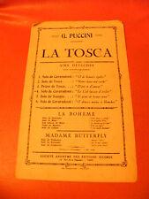 Partition La Tosca G Puccini