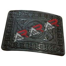 Scottish & Highland Kilt Belt Buckle Celtic Design D High Quality Black Finish