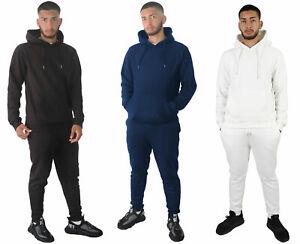 Mens Full Tracksuit Set Pullover Hoodie Hooded Sweatshirt Joggers Bottoms