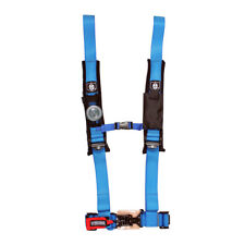 """Pro Armor Seat Belt Safety Harness 4 Point 2"""" Padded RZR Rhino Can Am Blue"""