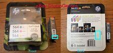 Genuine HP 564 XL Black plus 564 Cyan Magenta Yellow Color Ink Combo Pack - NIB!
