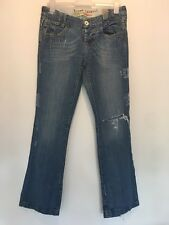 SIZE 12 RIVER ISLAND RIPPED WIDE JEANS AUTUMN/HOLIDAY/XMAS/WINTER/BOHO RRP £65