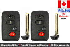 2x. New Replacement Keyless KeyFob For TOYOTA PROXIMITY REMOTE - Shell Case Only