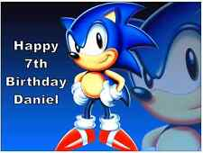 "Sonic The Hedgehog Personalizado Cake Topper Comestibles De Oblea De Papel 7.5 ""por 10 ¨ A4"