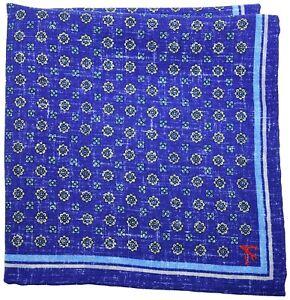 Isaia Pocket Square Reversible Purple Floral-Paisley 06PS0164 $140
