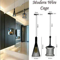INDUSTRIAL CEILING PENDANT WIRE CAGE RETRO STYLE LIGHT/LAMP SHADE METAL EASY FIT
