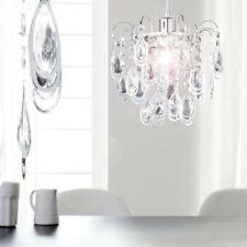 Pendel Decken Hänge Leuchte Kronleuchter Lüster Glas Kristalle Chrom Flur Licht